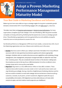 marketing performance management maturity model